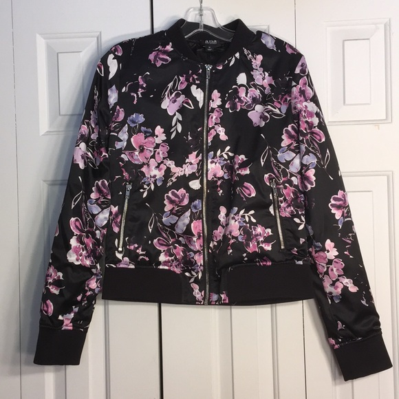 6c56b4daaf00b a.n.a Jackets & Coats | Black And Floral Bomber Jacket | Poshmark